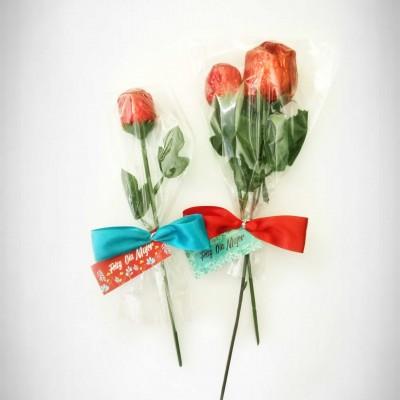 Rosas de chocolate personalizadas